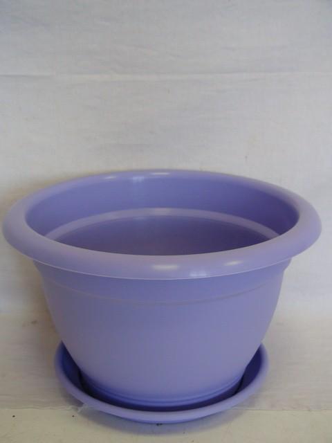Горшок для цветов с поддоном фиолетовый 6,3 л., пластик
