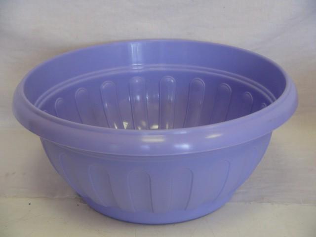 Горшок для цветов с поддоном фиолетовый 6,2 л., пластик