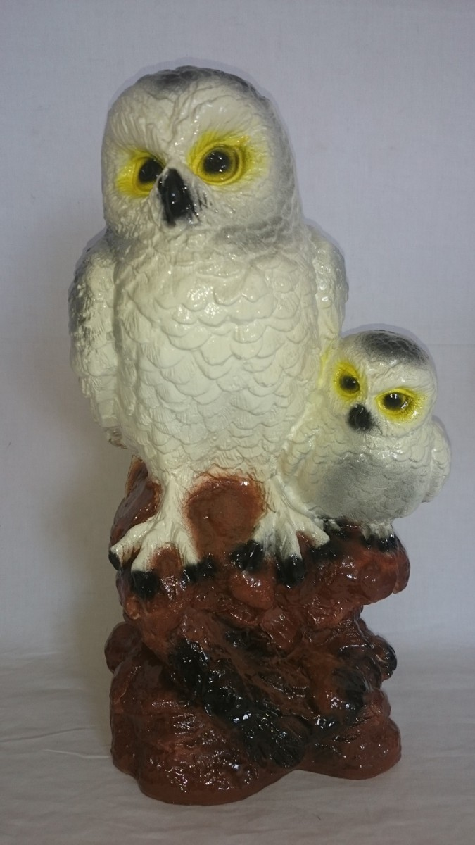 """Копилка """"Две совы на дереве"""" белые, 37 см"""