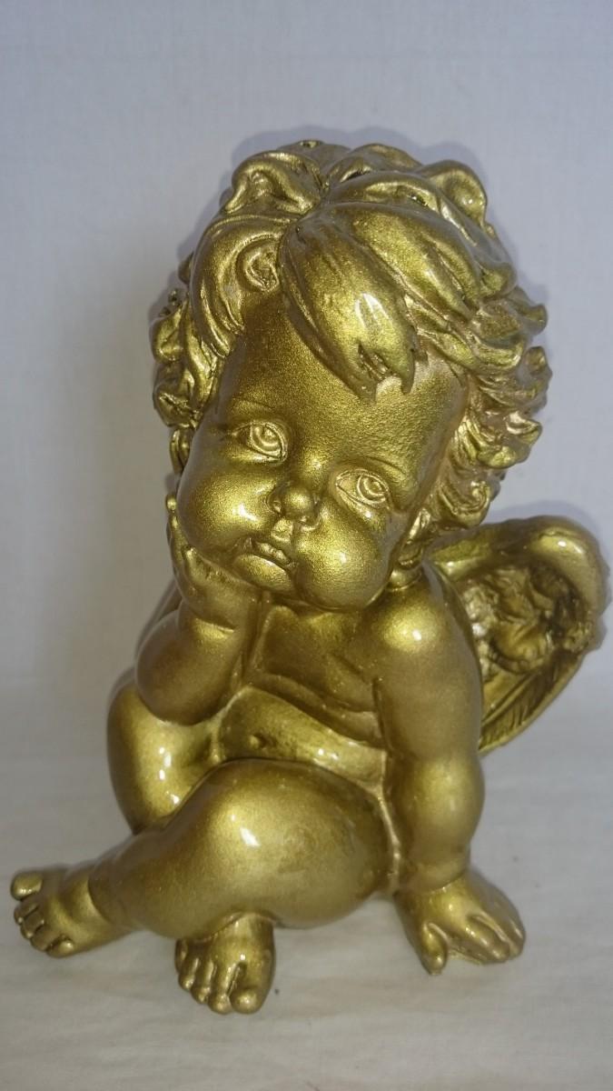 """Сувенир """"Ангел"""" 20 см, золотой."""